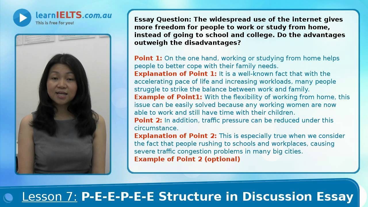 discuss essay structure Essay writing tasks do not have a clearly defined structure, and so you may need  to create your own  instruction words: eg discuss, compare and contrast.