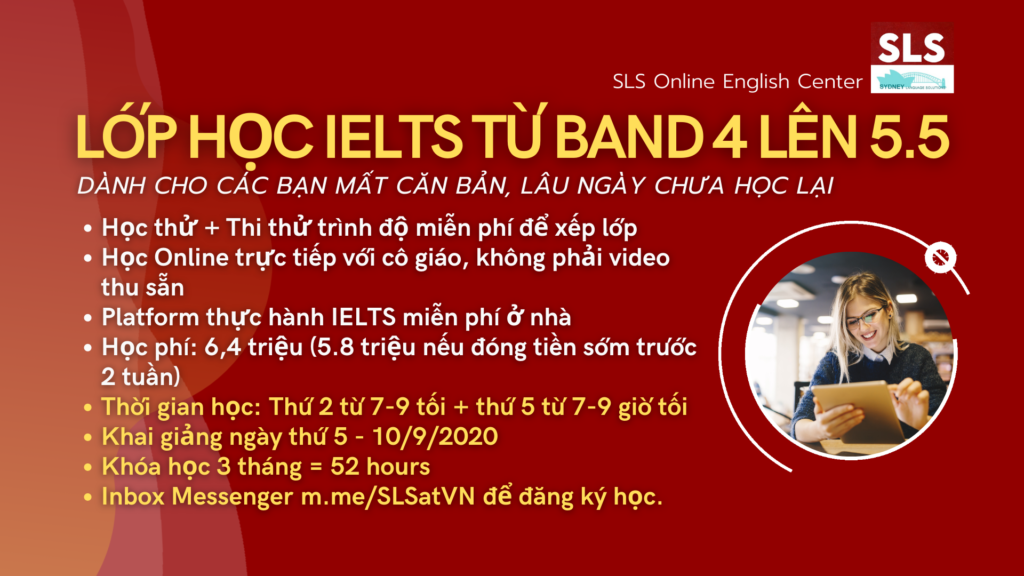IELTS online band 4 - 5.5